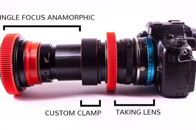 Rent a 85mm Isco 2x Anamorphic Lens w/ Wide Angle, single