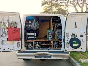 Rent:  Complete grip and lighting 2 ton G&E van