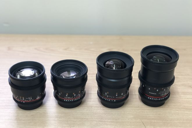 Rokinon Cine DS Lens Set 24, 35, 50, 85mm (CANON EF MOUNT)