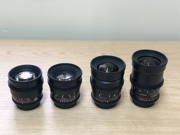 Rent: Rokinon Cine DS Lens Set 24, 35, 50, 85mm (CANON EF MOUNT)