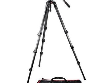 Rent: Manfrotto 504HD Video Fluid Head w/ 536 4-Section Carbon Fib