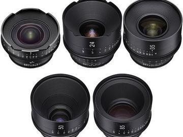 Rent: Xeen EF Lenses