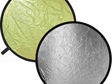 "Rent: Lastolite 48"" gold/silver reflector"