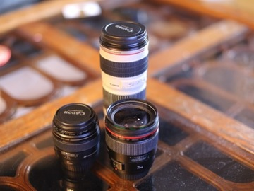 Rent: Lens Package, Canon 85mm, 35mm, and 70-200mm