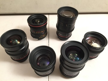Rent: Rokinon Cine (5) Lens Set - 24,35,50,85,135