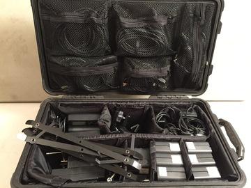 Rent: Travel LED Kit. (2) Wescott Flex, Gold Mount Batts, Sofboxes