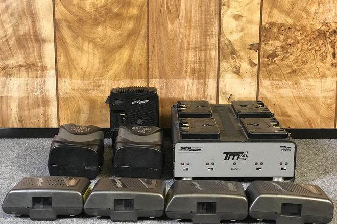 (6) Anton Bauer Gold Mount Batteries + (2) Chargers
