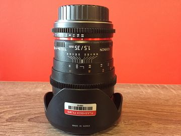 Rent: Rokinon 35mm t/1.5 Cine lens