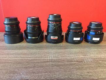Rent: Rokinon 5 Cine Lens Set