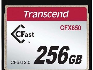 Rent: (4) Transcend 256GB CFast 2.0 Flash Memory Card