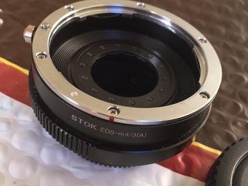 Rent: STOK EF to M4/3 mount adapter, Built-in Aperture Iris