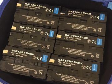 Rent: 6 battery packs for SONY NP-F770/F750 7.4V 4600mAh