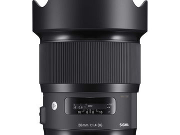 Rent: Sigma 20mm f/1.4 DG HSM Art w/ ND Filters & Polarizer