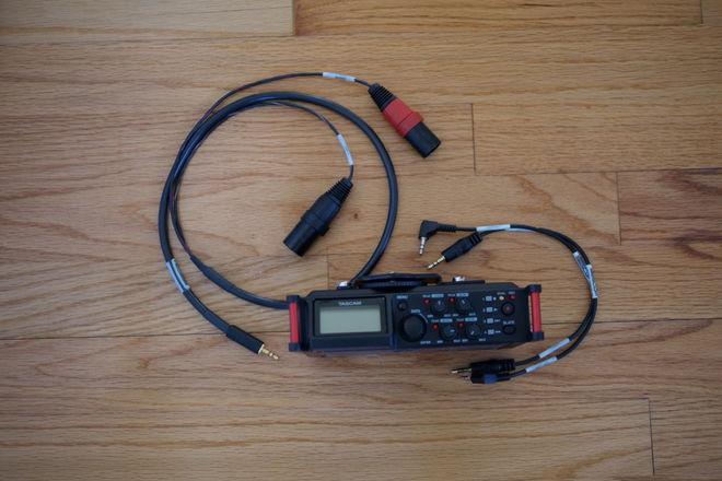 Tascam DR-70D w/Cables