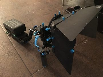 Rent: Camera Rig with Matte Box , Focus Puller and V-mount battery