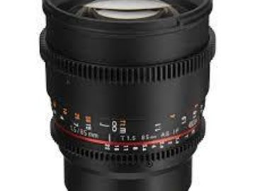 Rent: Rokinon 85mm T1.5 Cine DS Lens - Sony E Mount