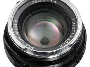 Rent: Voigtlander Nokton Classic 35mm f/1.4 MC Lens w/ E-mount Ada