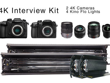 Rent: Panasonic GH5 & GH54 4K Interview Package w Kino Flo