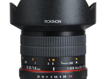 Rent: Rokinon AF 14mm f2.8