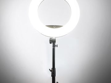 """Rent: Yidoblo 18"""" 96W Bi Color Ring Light with Stand"""