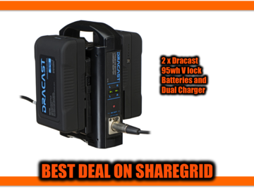 Rent: 2 x DRACAST V Mount Batteries and Dual Charger