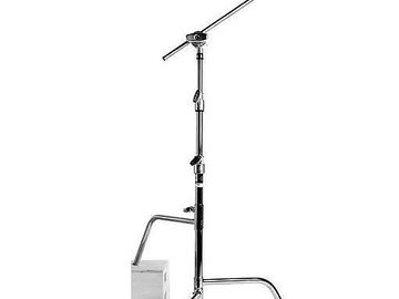 """Rent: 20"""" C-Stand with Gobo Head and Gobo Arm"""