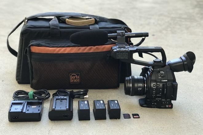 Canon C100 Mark II w/ Canon EF 24-70 f/2.8L II and Mic