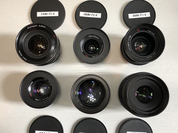 Zeiss Contax EF CineMod 6 lens set (21,28,35,50,85,100)