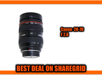 Rent: Canon 28-70mm F2.8 Lens EF