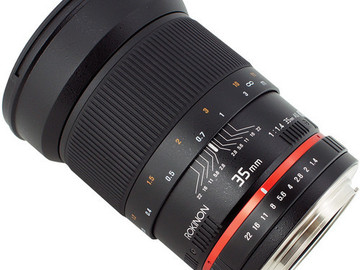 Rent: 35mm 1.4f Rokinon Lens EF Mount