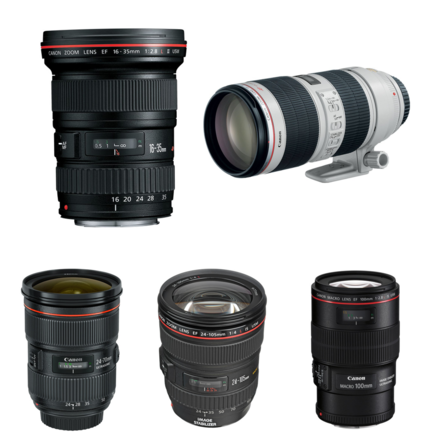 Canon EF Lens Package (5 Lenses)