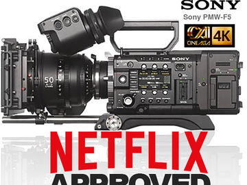 Rent: Sony PMW-F5 CineAlta Digital Cinema 4K *NETFLIX approved*