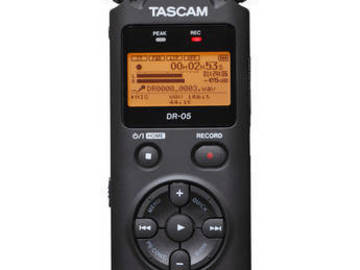 Rent: Tascam DR-05 Portable Handheld Digital Audio Recorder
