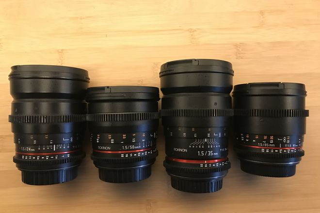 Rokinon Cine DS (pick any 2) Lens Set Canon EF