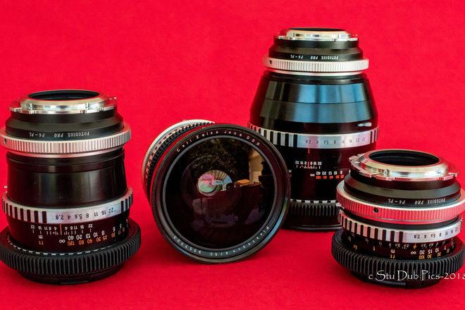 Zeiss Jena Medium Format Prime Lens Set of 5