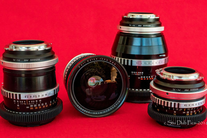 Zeiss Jena Medium Format Prime Lens Set of 5
