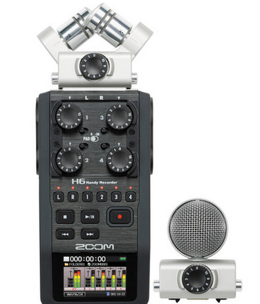 Zoom H6 interview package w/ 416 and 2 Lectrosonics wireless
