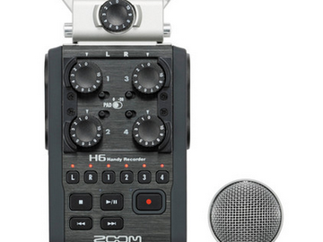 Rent: Zoom H6 interview package w/ 416 and 2 Lectrosonics wireless