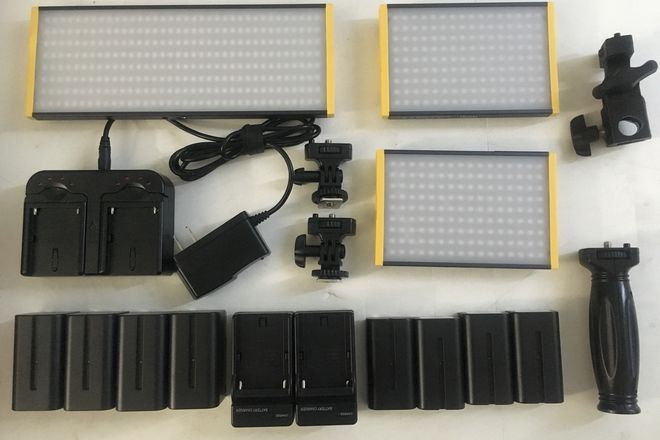 Onyx 240 & (2) 120 Bi-Color On-Camera LED Light