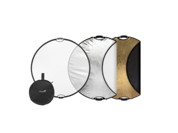 """Rent: 5-in-1 Collapsible Circular Reflector Disc - 42"""""""