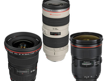 Rent: TRIO BUNDLE - Canon 3-Lens L-Series Kit - 16-200mm