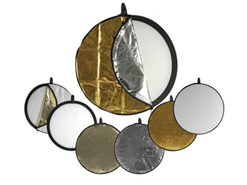 """Rent: 5-in-1 Collapsible Circular Reflector Disc - 32"""""""
