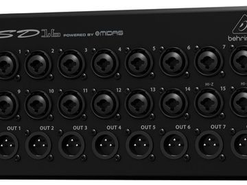 Rent: Behringer SD16 - Digital Stage Box and EtherCon cable reel