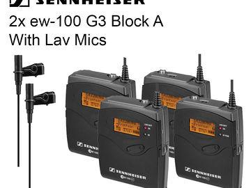 Rent: 2x Sennheiser  Lav lavalier EW-100 G3 Microphone