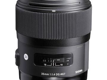 Rent: Sigma 35mm f/1.4 DG HSM Art Lens