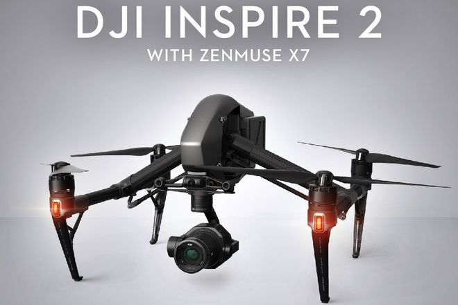 DJI Inspire 2 with X5 (4k) and X7 (6k)