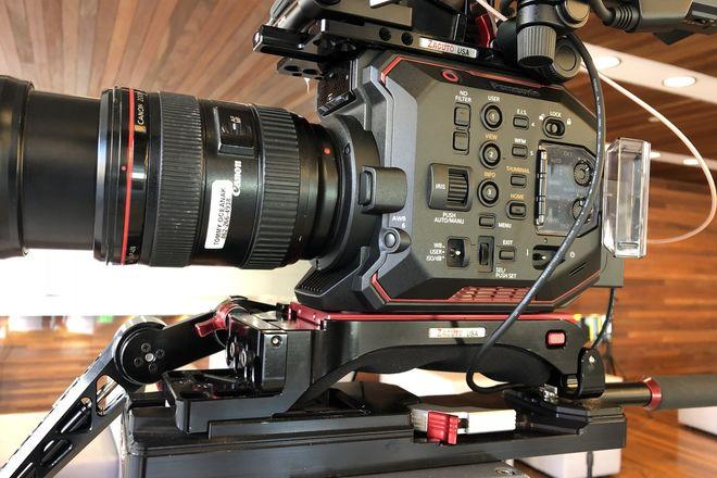 Panasonic EVA1 w/ Canon zoom Zacuto/SmallHD rig