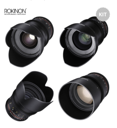 Rokinon DS Cine Primes Kit - EF Mount