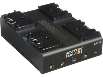 Rent: Anton Bauer LP 4-POS Fast Battery Charger Quad Gold Mount