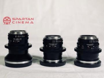 Rent: 3 Lens Prime Set: Zeiss ZF.2 (21, 28, 50) EF + Cine Mods